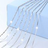 Counter Platinum Necklace Platinum PT950 Necklace Length Fine Clavicle Chain 2018 Jewelry