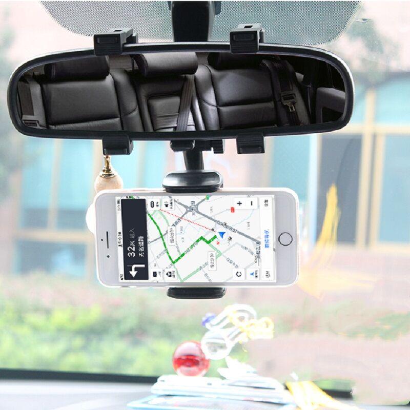 车内后视镜手机支架360度旋转