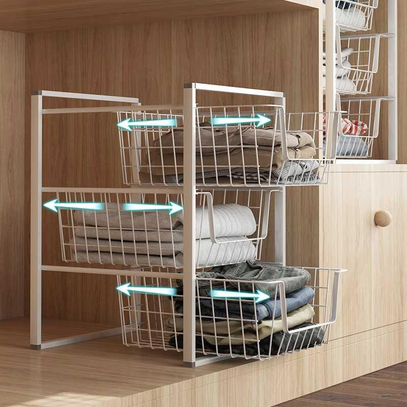 Storage cabinet for clothes Tiered rack Drawer wardrobe Storage artifact space master cabinet sub-grid