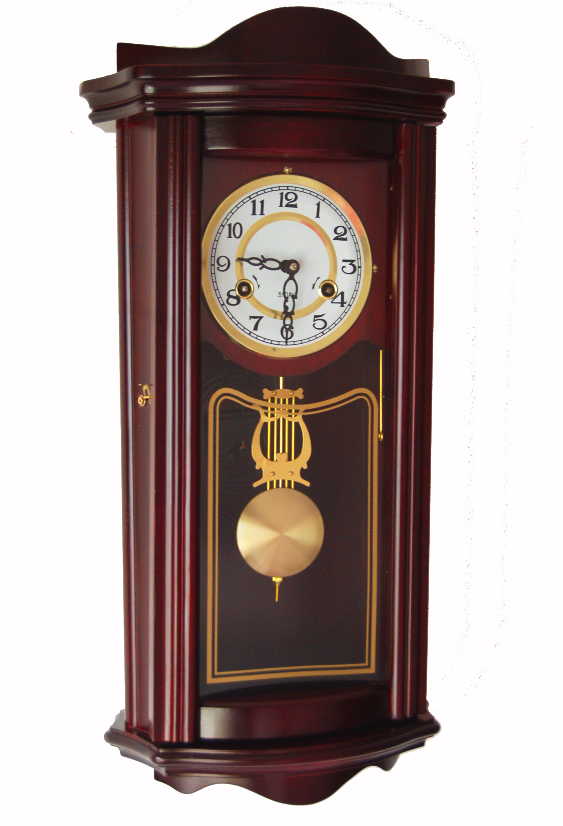 USD 6467 Polaris Brass Mechanical Movement Solid Wood Wall Clock