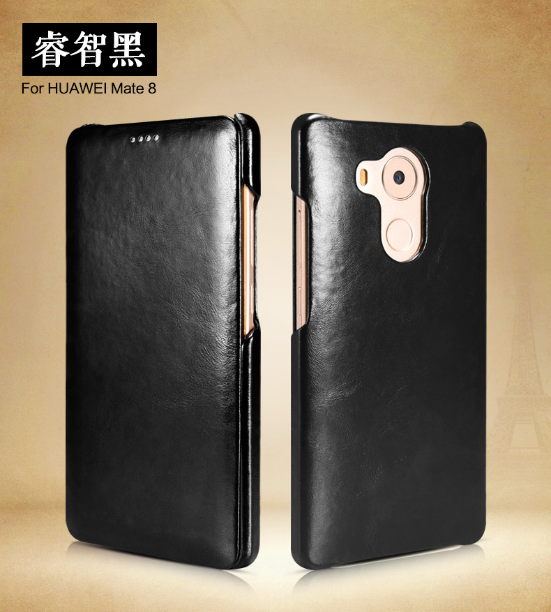 iCarer Vintage Series Side Open Handmade Genuine Cowhide Leather Case Cover for Huawei Mate 8