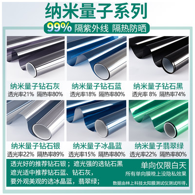 One-way perspective sunscreen insulation film household glass foil sticker blackout window sticker balcony window self-adhesive window paper