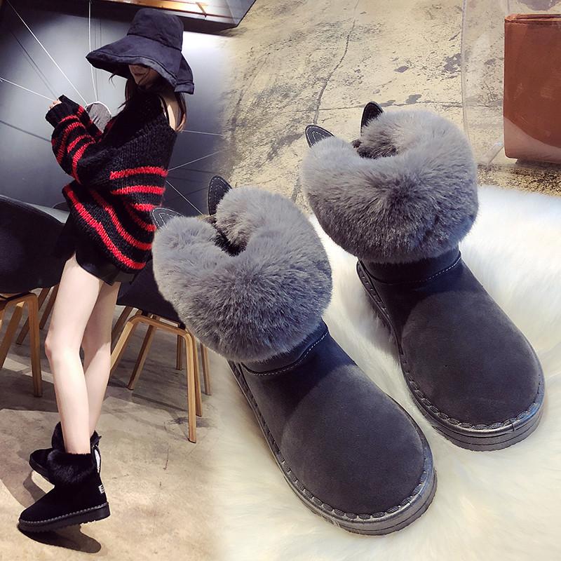 网红爆款加绒保暖雪地靴女2020冬季新款百搭短靴棉鞋女靴短筒靴子