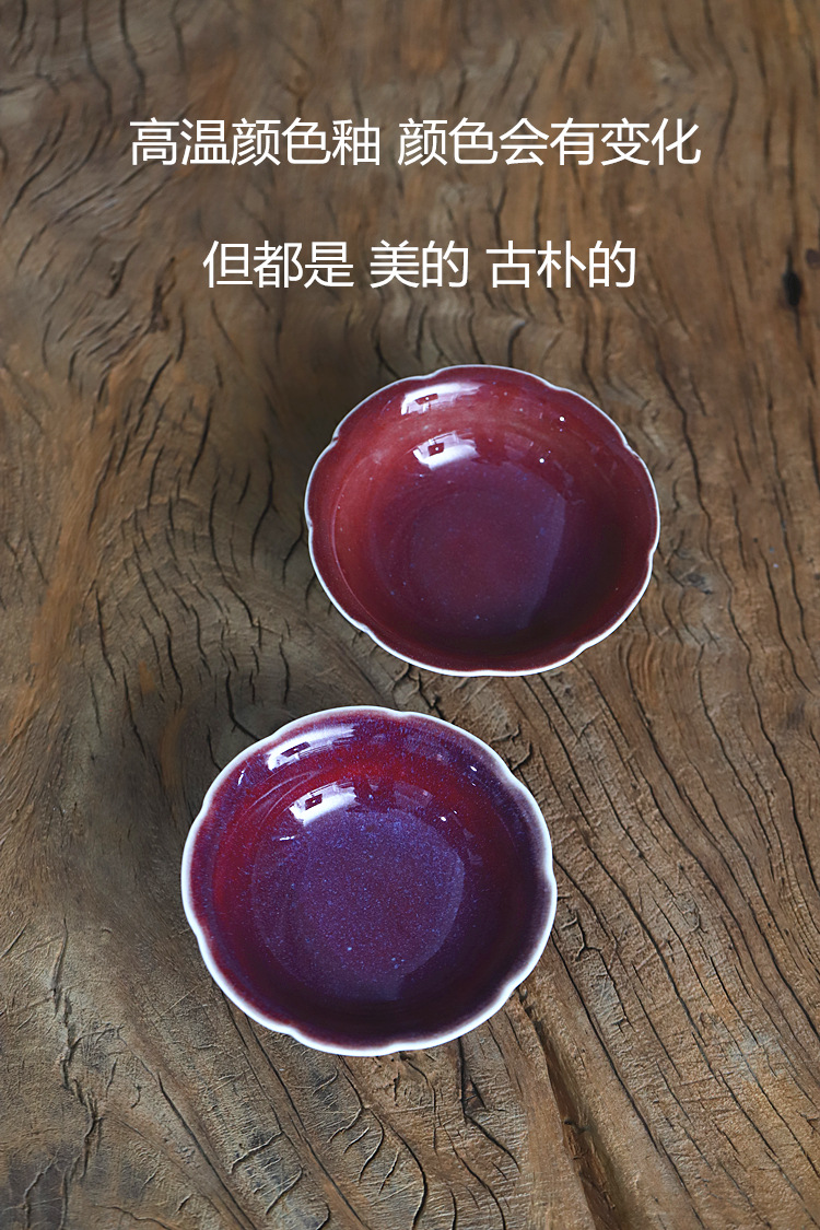 Chinese high poly real scene ceramics up dried tea tray compote flower tea tray expressions using tea pot adopt manual compote