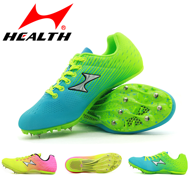 46b7df5af Hailes spike shoes men and women track and field training professional  sprint competition nail shoes students ultra light body test four spike  shoes