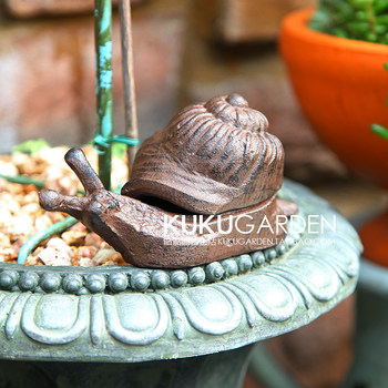 European style cast iron ornaments home accessories gardening creative wrought iron snail sundry box garden small ornaments key box