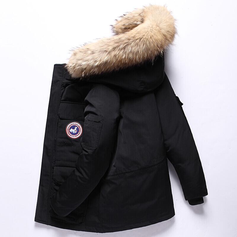 【男女官方】【加拿大羽绒服】正品装中长款2018新款冬季加厚大鹅