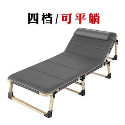 Folded bed single afternoon break bed home lounge chair march simple portable office adult hospital accompanying chair