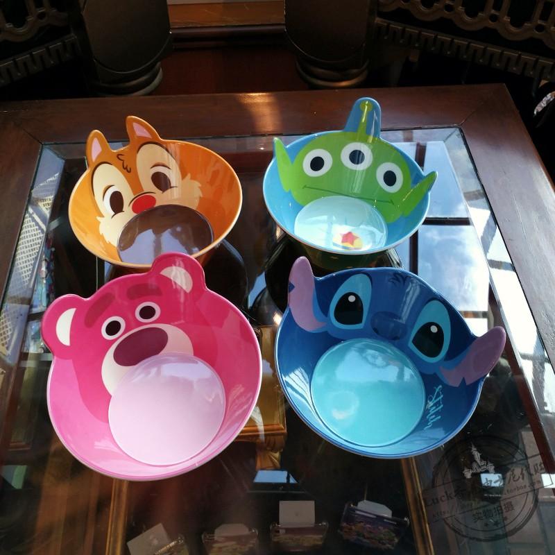 香港迪士尼草莓碗DISNEY三眼熊史迪奇蒂蒂餐具仔卡通儿童宝宝辅食