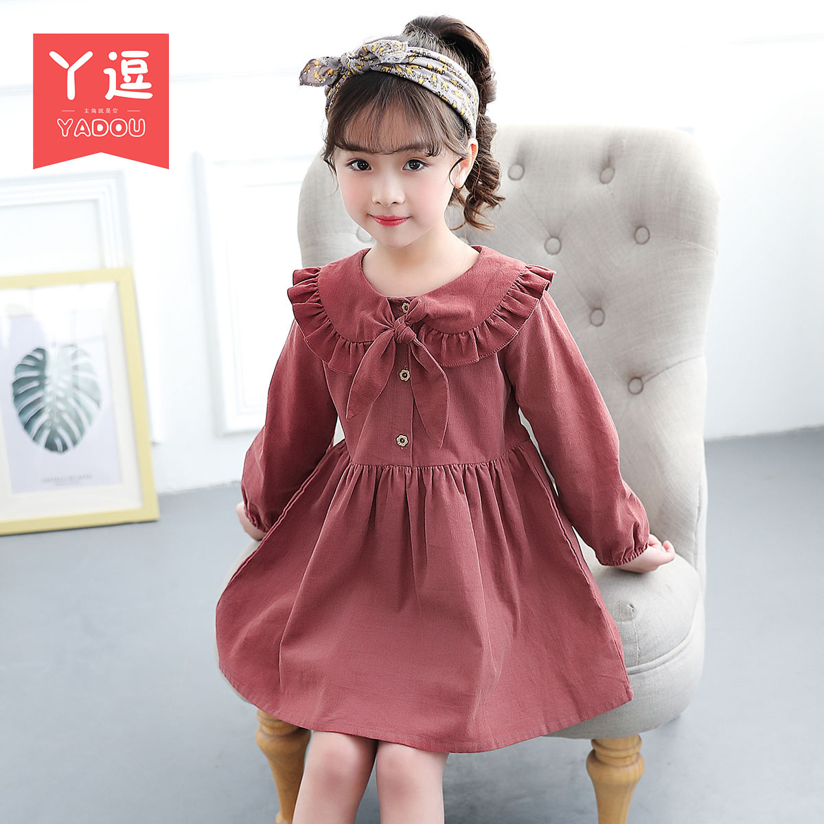 7ca1c3d13be6 ... Girls dress autumn 2018 new baby skirt 4 spring and autumn children s  clothing 5 foreign gas ...