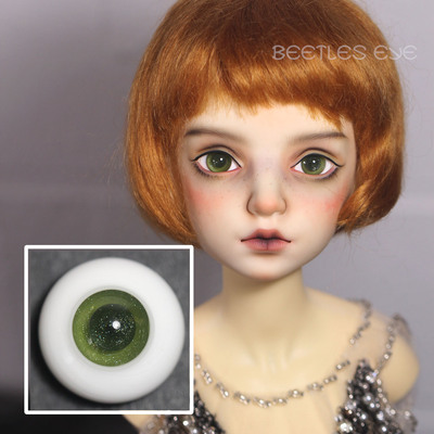 taobao agent Dolly Planet-BJD Baby Handmade Glass Eyeball Imported Material Shining Series H-35 Olive Green