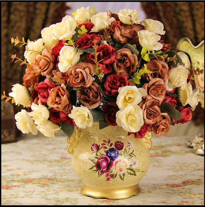 Usd 2205 european silk flowers plastic dried flowers artificial european silk flowers plastic dried flowers artificial flowers simulation floral set jewelry table flower arrangement living mightylinksfo