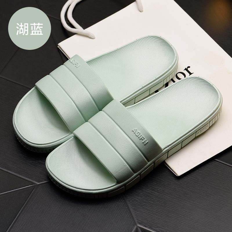 男士字母潮流拖鞋夏季韩版情侣沙滩鞋