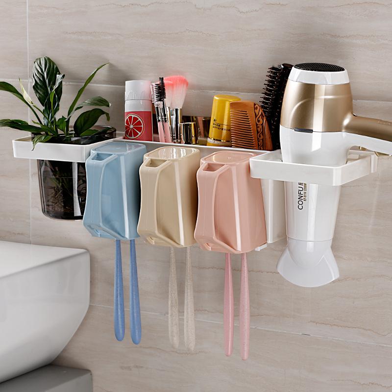 Зубная щетка стеллажи настенный поглощать стена стиль держатель щетки зубная щетка чашка мыть чашка ванная комната творческий присоска зуб отрицать