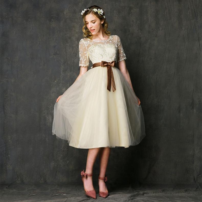 Hình ảnh nguồn hàng Váy phù dâu voan nữ xòe dễ thương giá sỉ quảng châu taobao 1688 trung quốc về TpHCM