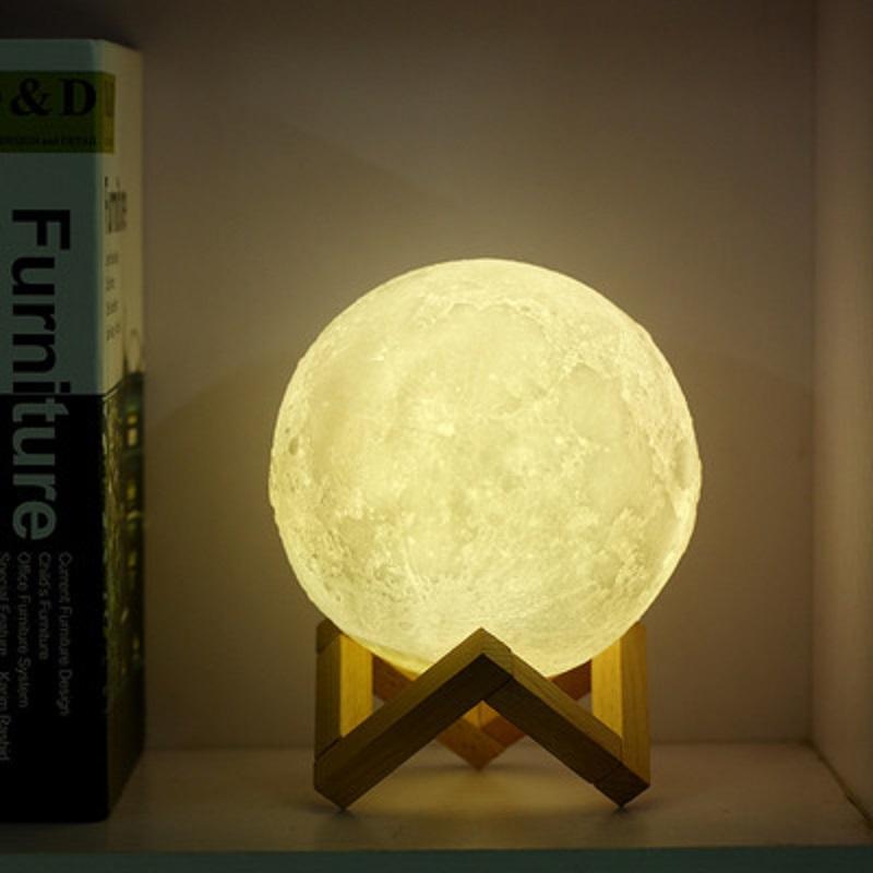 月球灯创意3D打印小夜灯男女朋友闺蜜同学生日礼物特别走心圣诞节