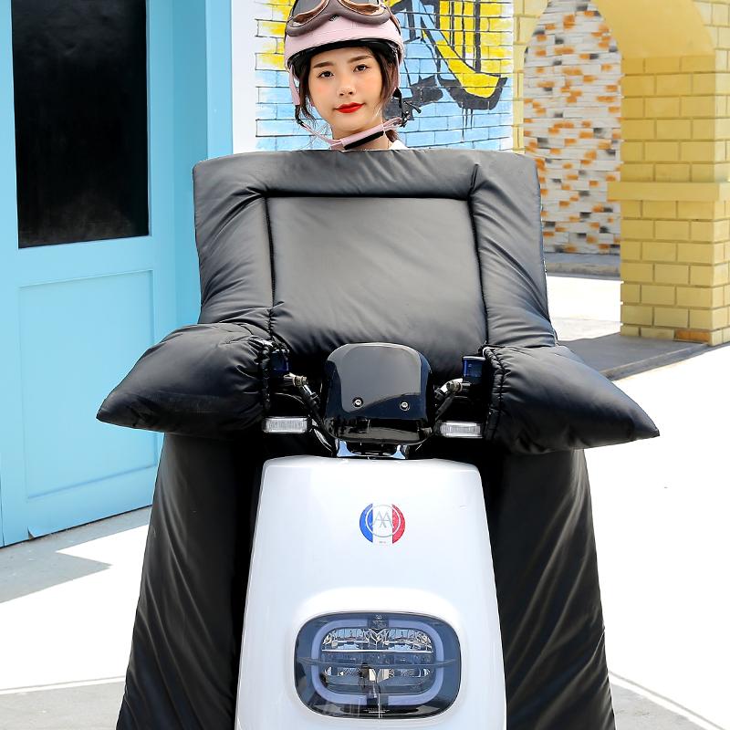 電動摩托車擋風被冬季加絨加厚加大防水電車電瓶自行車冬天春秋pu