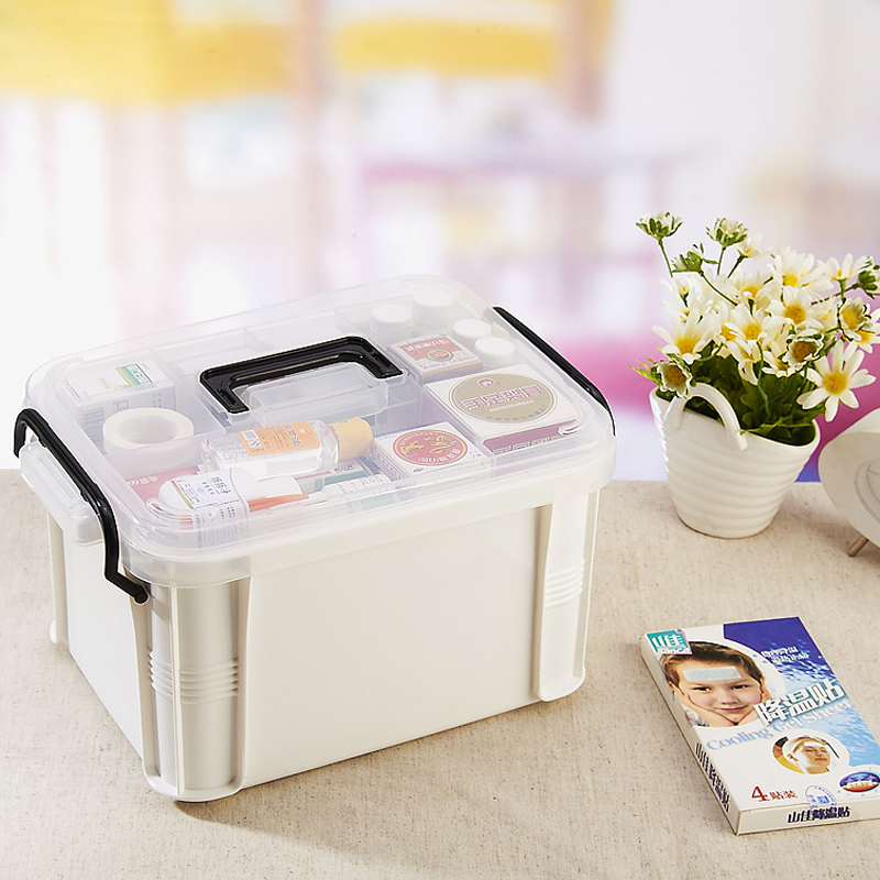 Family Extra Large Medical Box Multi Layer Medical First Aid Counterfeit Storage  Box Household Plastic Children Small Medicine Box Out Of The Clinic