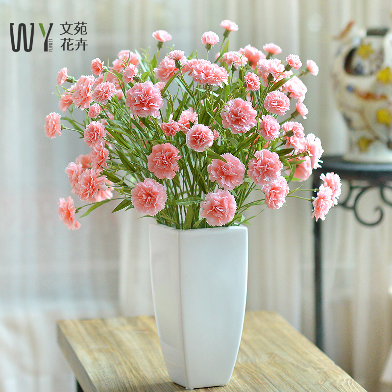 Artificial flower set carnation floral flower bouquet silk flower ...