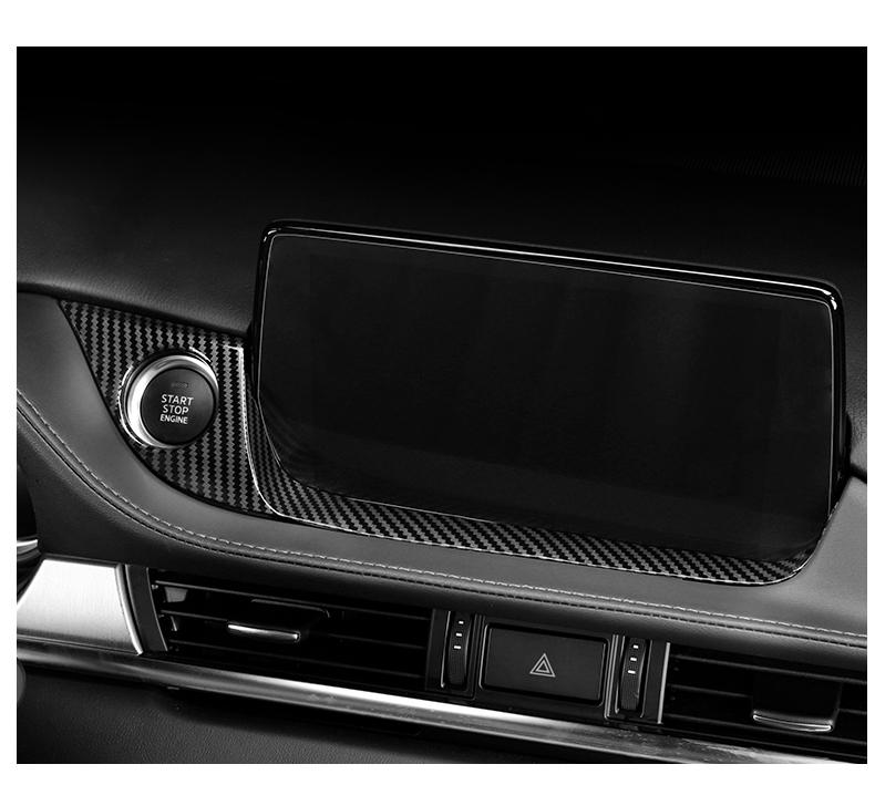 Ốp trang trí nút khởi động và viền dưới màn hình Mazda 6 2020 - ảnh 7