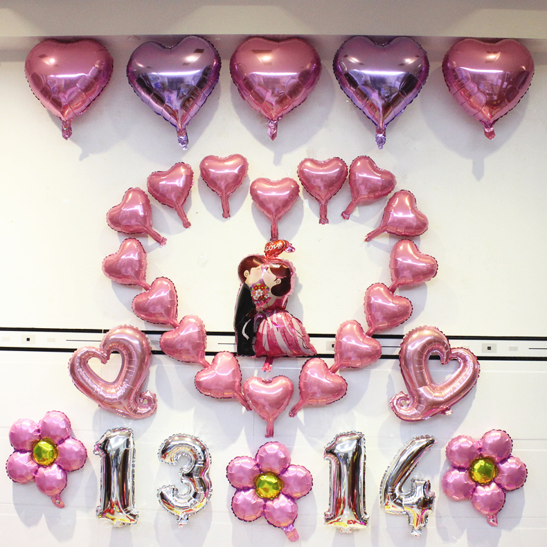 Usd 988 wedding room arrangement letters aluminum film balloon wedding room arrangement letters aluminum film balloon packages romantic dress bedroom wedding wedding balloon wedding decoration supplies junglespirit Images