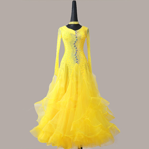 Custom size competition ballroom dance dresses for women girls Modern dance show dress competition dress big Swing Skirt Waltz Dance Dress national standard dance