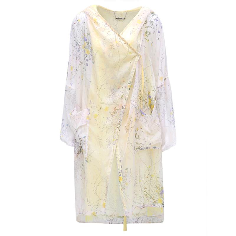 春夏装中长款雪纺开衫空调衫女-优惠后30元包邮