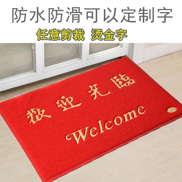 Mats Welcome Door Plastic Waterproof Non Slip Red Carpet Into The Mat Home