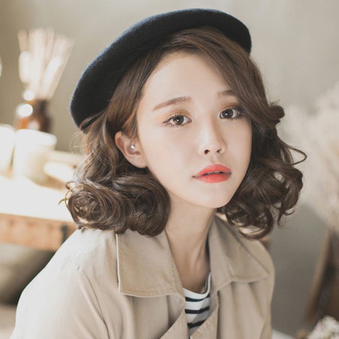 Usd 50 02 Korean Wig Women Short Hair Fluffy Short Curls In The Middle Of Liu Hai Natural Simulation Big Scalp Curls Pear Flower Head Wholesale From China Online Shopping Buy