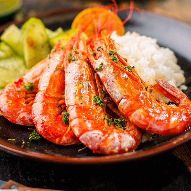 Argentine Red Shrimp L2 2kg Seafood Aquatic Products Imported