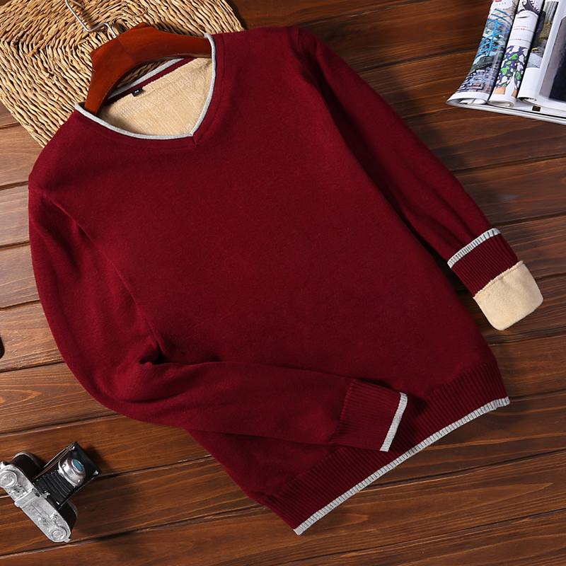 Plus Velvet 9091 Wine Red (v-neck)