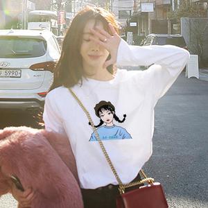 CX2459# 最便宜服装批发 秋季新款韩版宽松潮学生宽松百搭长袖T恤女上衣