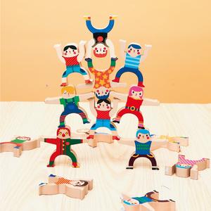【双11预售】美乐儿童大力士叠叠乐平衡玩具益智亲子叠叠高人偶