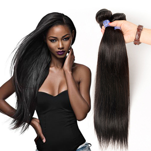 8A Virgin Peruvian Human Hair Weaves Straight in Stock парик