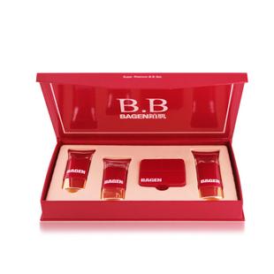 BAGEN铂肌白金系列修护BB霜礼盒(2BB+1粉饼+1洁面)裸妆套组正品