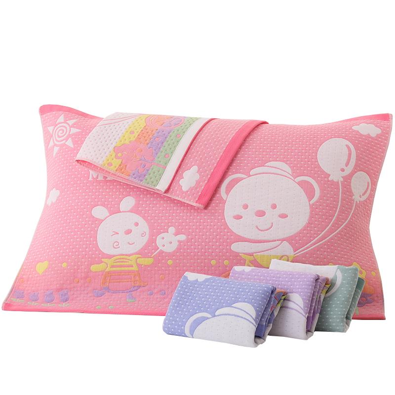 纯棉枕巾一对装全棉吸汗纱布枕头巾单人学生简约成人欧式情侣枕巾