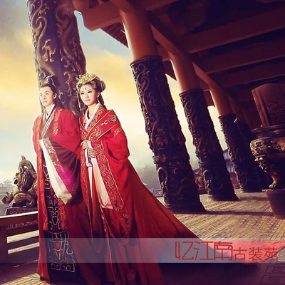 Traditional Chinese Clothing Bride Wedding Dress Couple Ancient Tang Dress Han Dress and Men Women Performance Dress