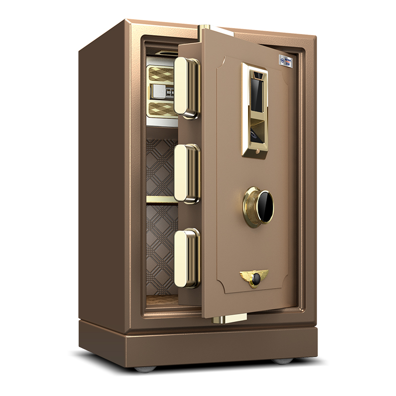 君霸人臉識別保險柜60cm家用辦公全鋼防盜保險箱保管箱入墻新品