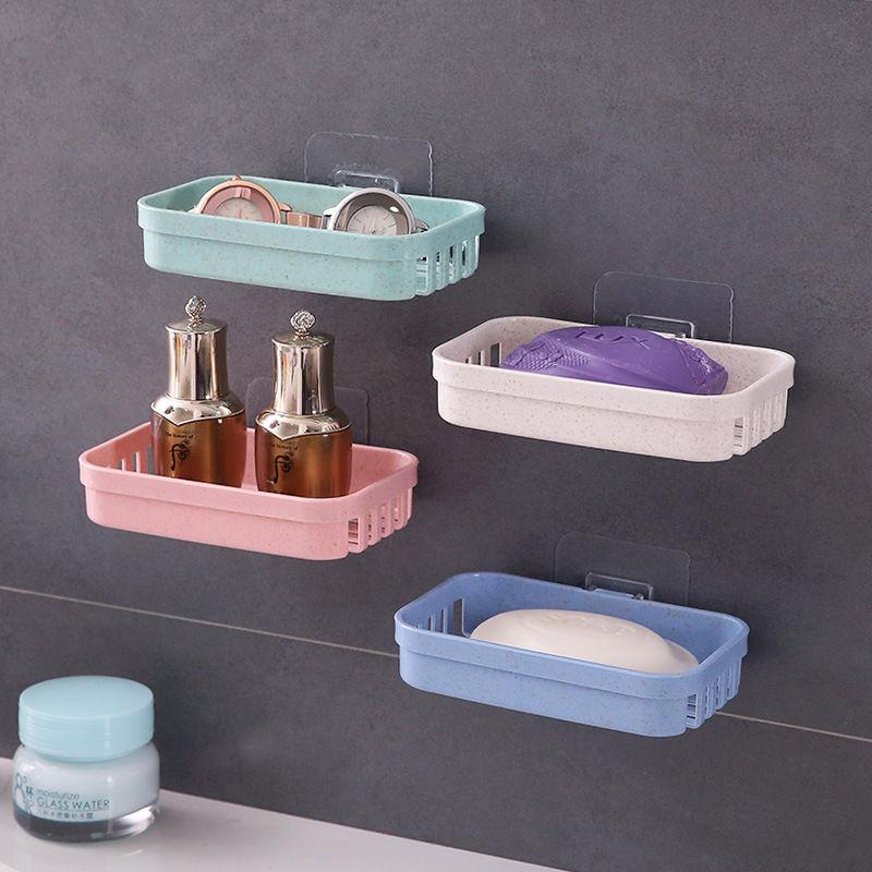 免打孔盒子三层肥皂香皂卫生间置物架盒子架沥水盒虑水双层香皂