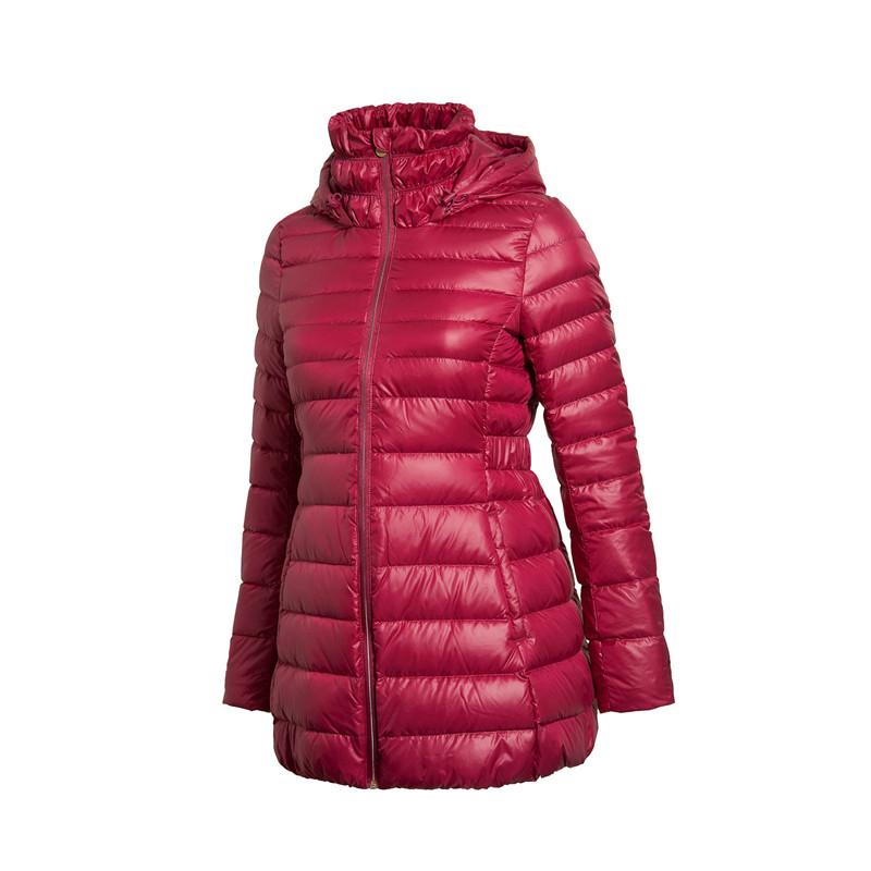 李宁羽绒服女冬款外套中长款舒适时尚修身保暖羽绒服 QC