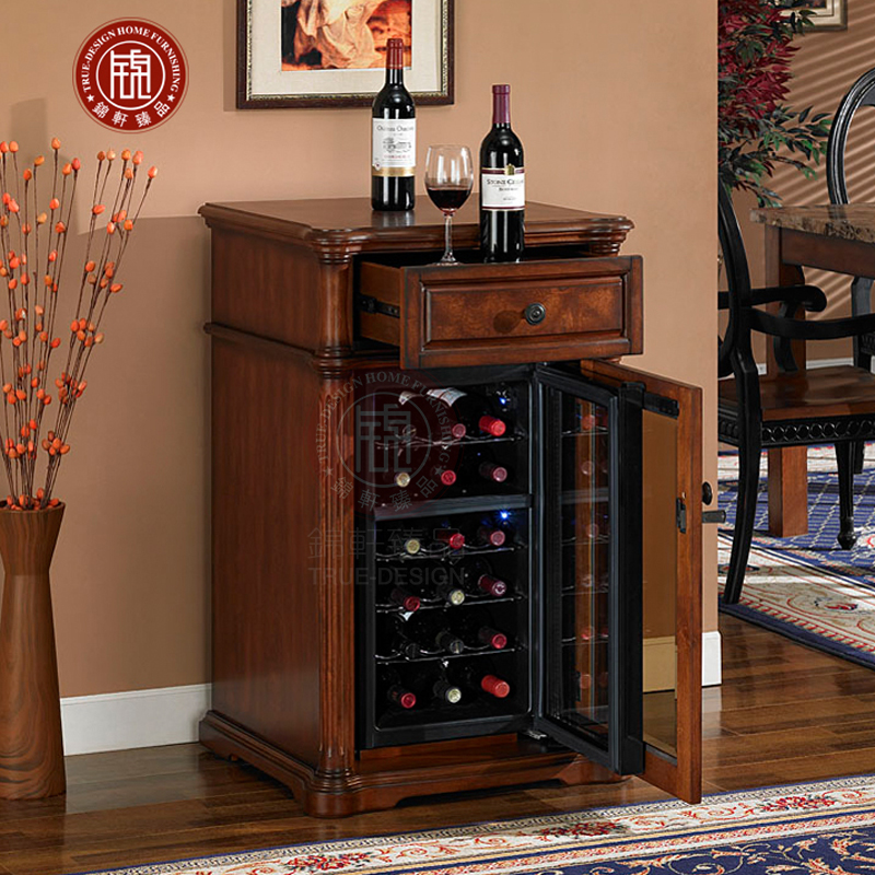 Solid Wood Living Room Refrigerator Wine Cabinets Refrigerated Cigar Home Tea Constant Temperature Cooler