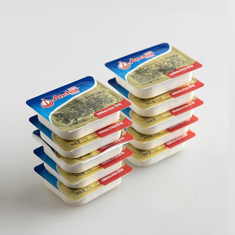 安佳淡味№黄油家用煎牛排面包烘焙原料食用动物黄油粒小包装10g*10