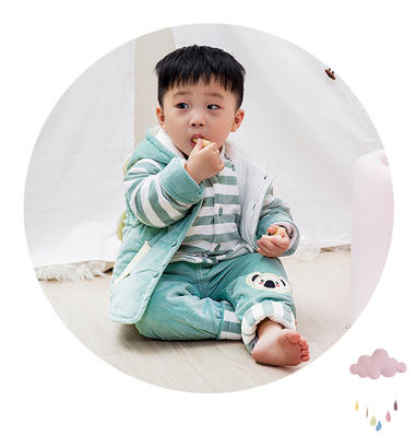 d683139438f2 Boys wear autumn and winter clothes 0-1-2 years old baby three ...