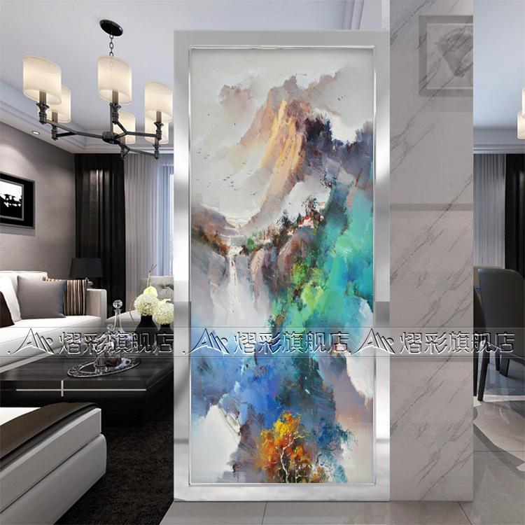Jane European Modern Wall Panels Art Glass Vestibule Background Living Room Translucent Frosted Aesthetic Ink