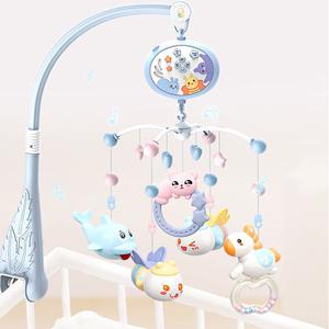 新生婴儿宝宝床铃0-1岁3-6个月12玩具音乐旋转床头铃摇铃
