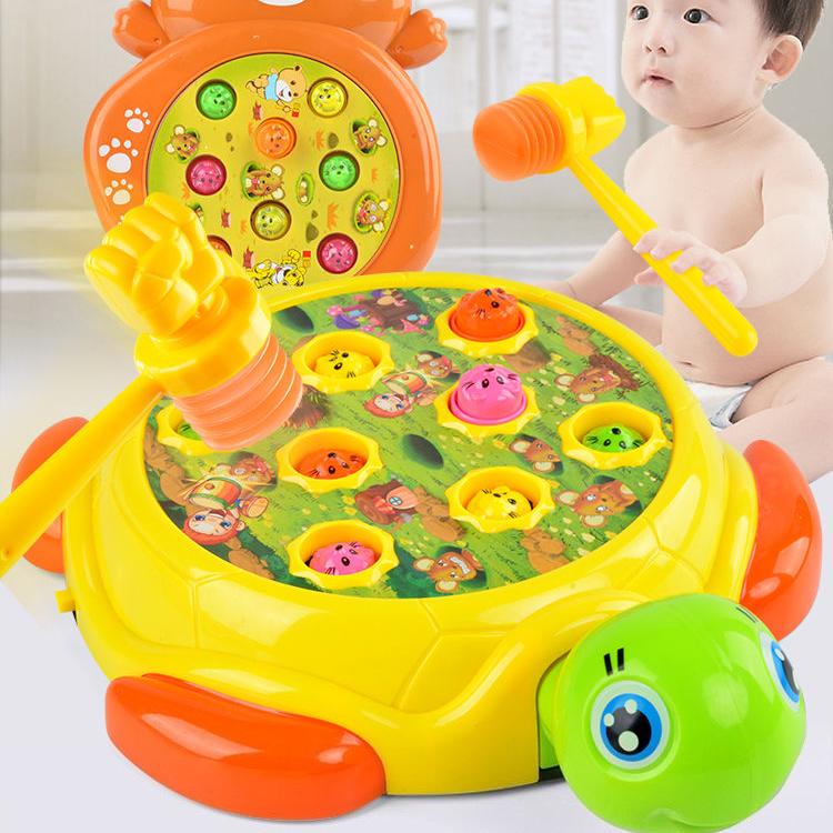 儿童打地鼠玩具 宝宝益智小女男孩大号充电动玩具1-2-3岁智力开发