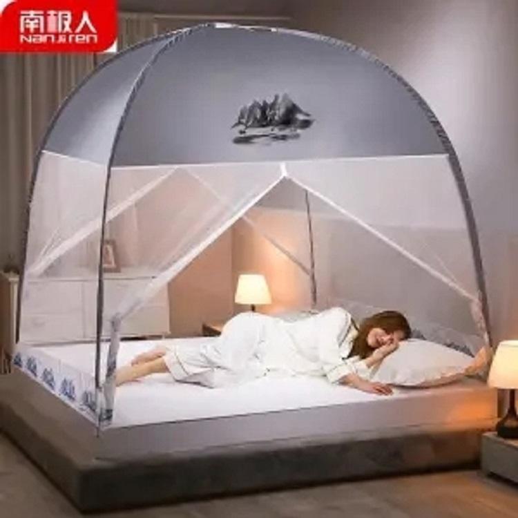 免安装蚊帐加密加厚双开门蒙古包学生宿舍家用蚊帐