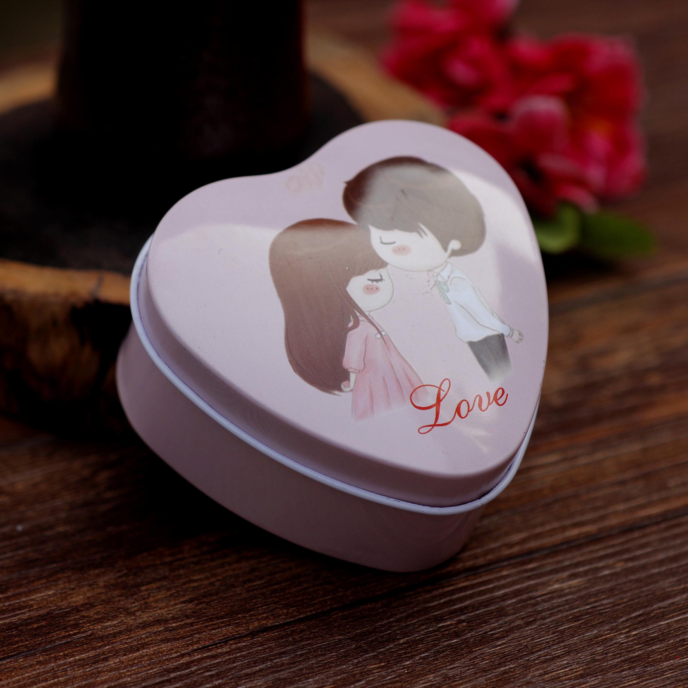 满月结婚礼喜糖成品费列罗心形爱心马口铁盒子回礼盒喜糖盒送袋子