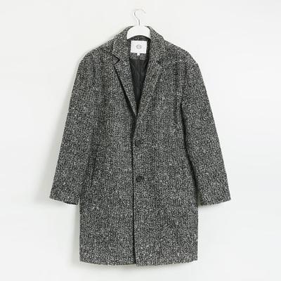 C & A nam màu hỗn hợp ve áo áo mùa thu và mùa đông dài áo khoác bông áo CA200197052 Áo len