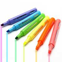 晨光荧光笔6色无味荧光标记笔学生用糖果色记号笔彩色粗划重点背书神器儿童闪光莹光银光萤光笔记复习笔